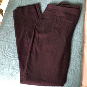Chico's Jeans - Chico's slimming stretch jeans in a deep plum.
